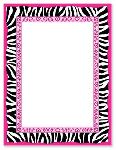 zebra print border | bordas | pinterest | zebra print and zebras, Birthday invitations