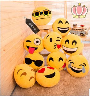 wholesale plush emoji pillows cheap whatsapp emoji pillows