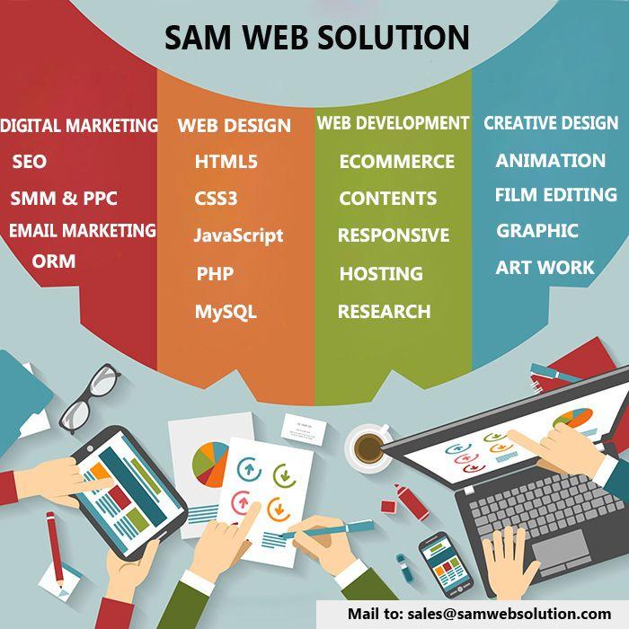 Web Design Web Development Digital Marketing Company Sam Web Solution Is The Professional Web Developm Web Design Web Design Services Web Development Design