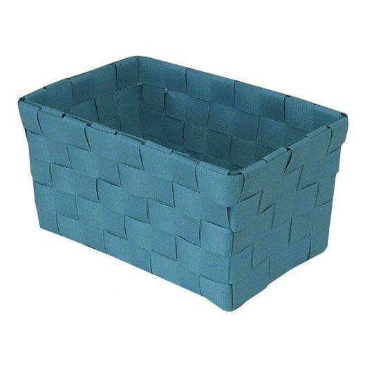 Panier En Plastique Happy Bleu Atoll N 4 Panier Plastique Boite De Rangement Panier