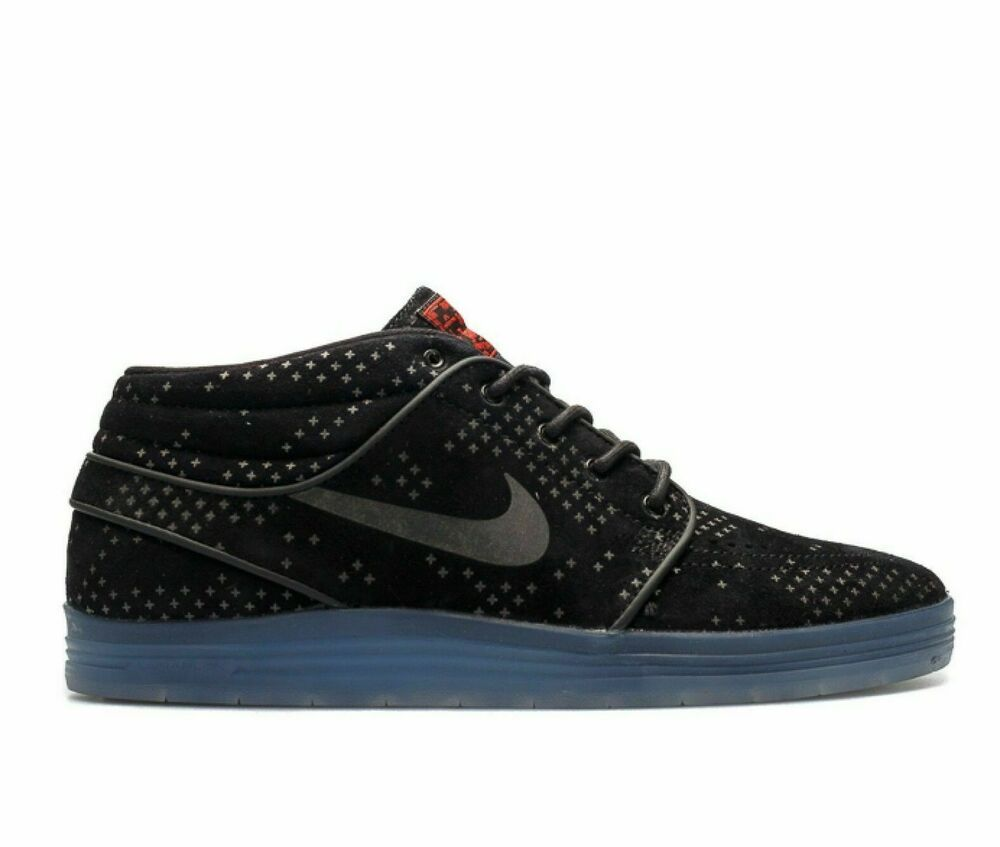 competitive price 690bf a6df8 Nike SB Lunar Stefan Janoski Mid Flash Mens Skate Shoes 10 Black Clear  Nike   SkateShoes