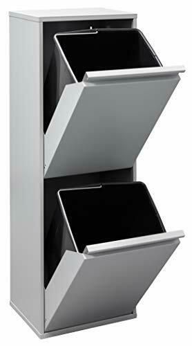 ARREGUI Mülleimer und Recyclingbehälter, Stahl, 2Fächer 90,…