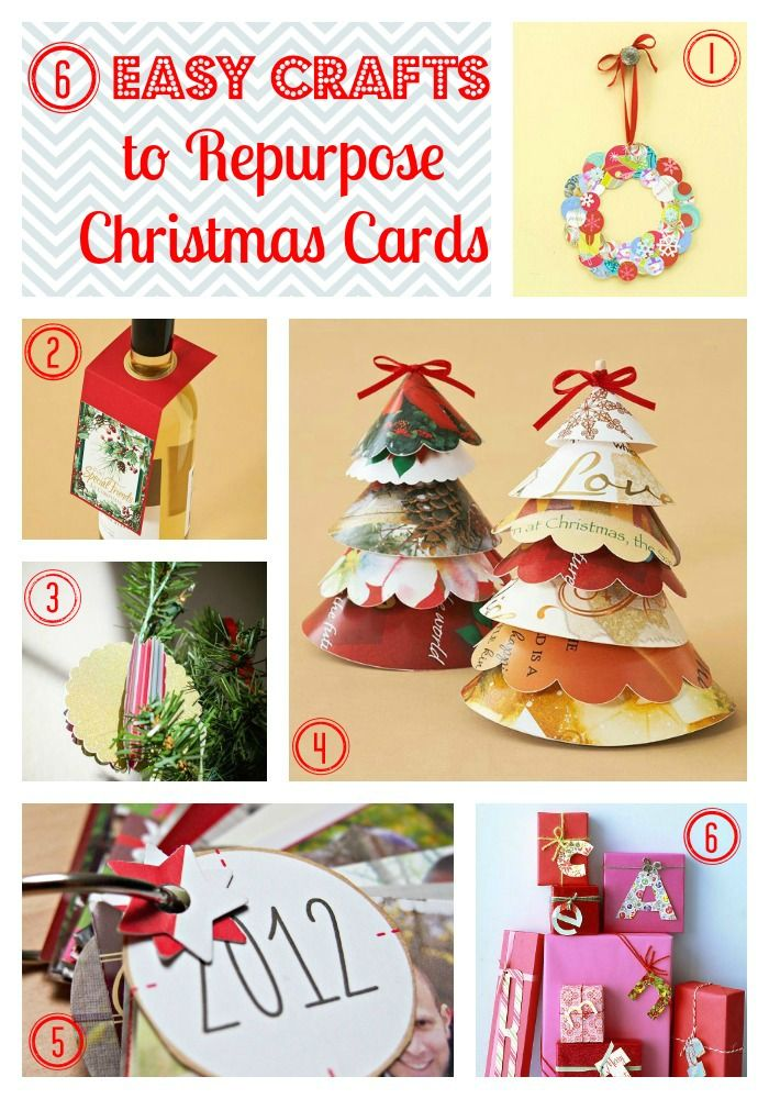 Easy Crafts to Repurpose Christmas Cards Maybe I can be crafty for