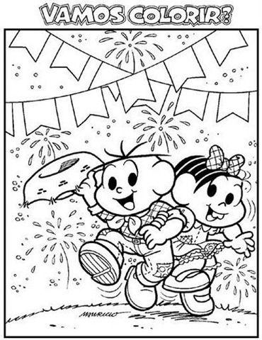 Desenhos Da Turma Da Monica Na Festa Junina Festa Junina Para