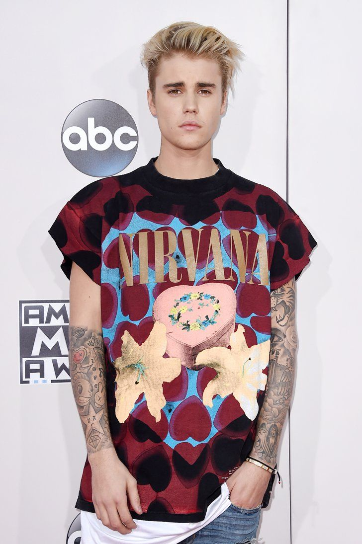 9f724745 Pin for Later: Justin and Selena Show Up at the AMAs After Their Sweet  Weekend Tryst