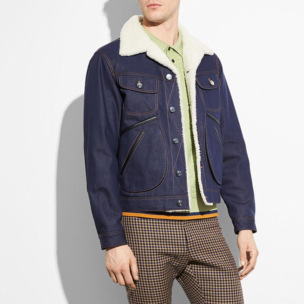 Coach Uk Official Site New York Modern Luxury Brand Est 1941 Shearling Jacket Jackets Denim [ 1034 x 1034 Pixel ]