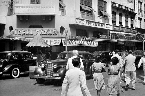 Escolta Street Manila Philippines Oct Nov 1940 Manila