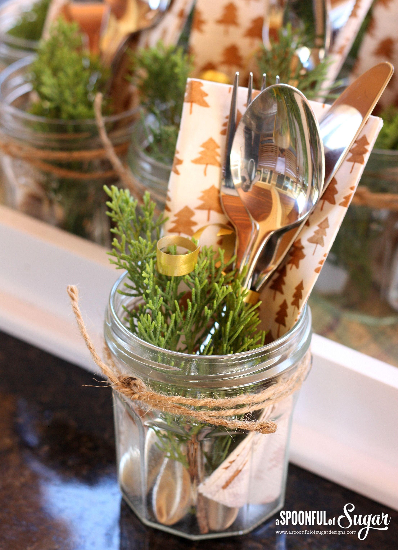 Xmas cutlery in a bonne maman jar jar pinterest cutlery xmas