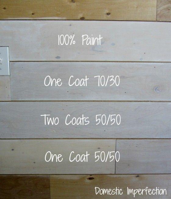 Painted plank walls finally deuxi me vie bois et chalet - Blanchir du bois ...