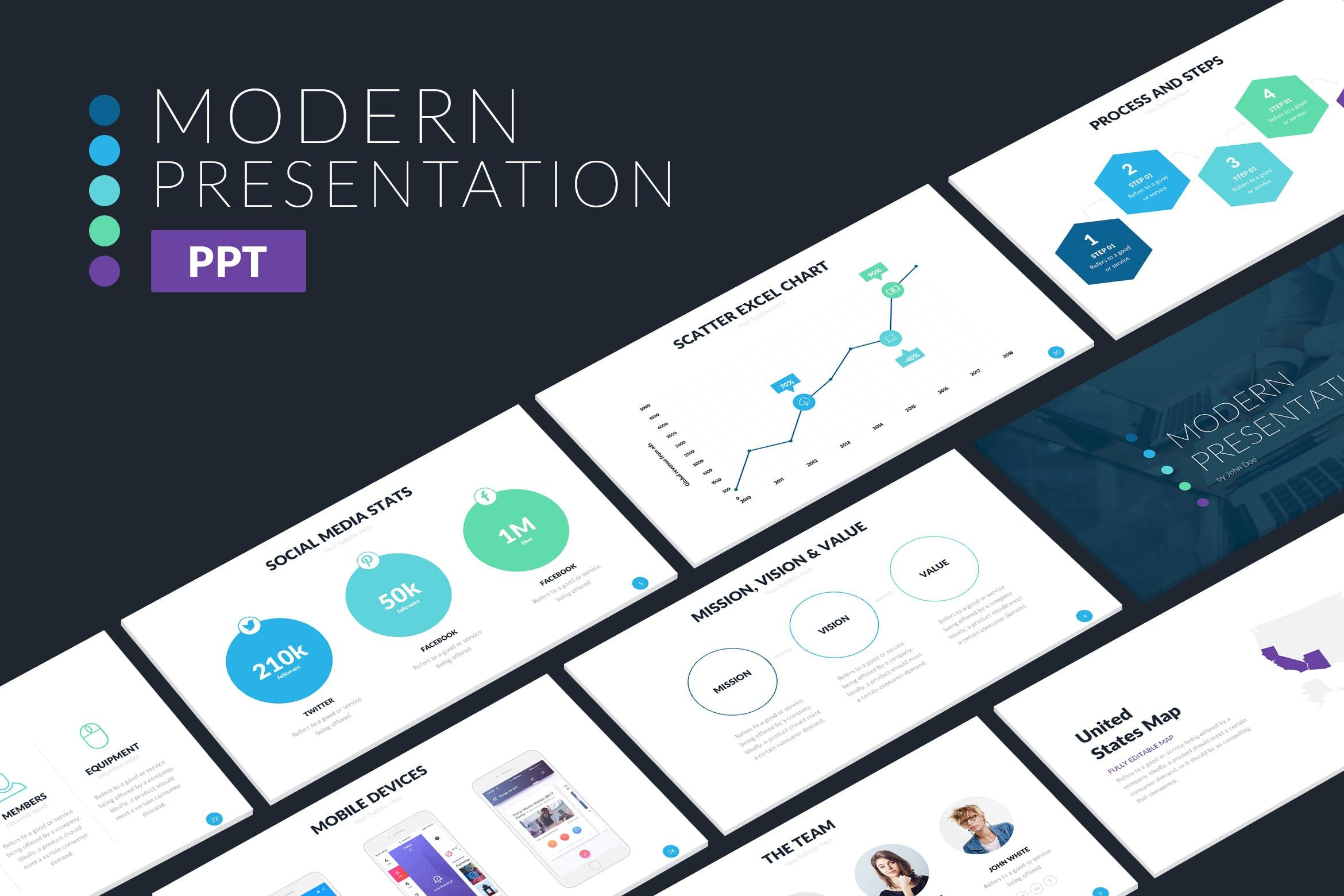 Modern powerpoint template ppt refresh pinterest template and modern powerpoint template toneelgroepblik Choice Image