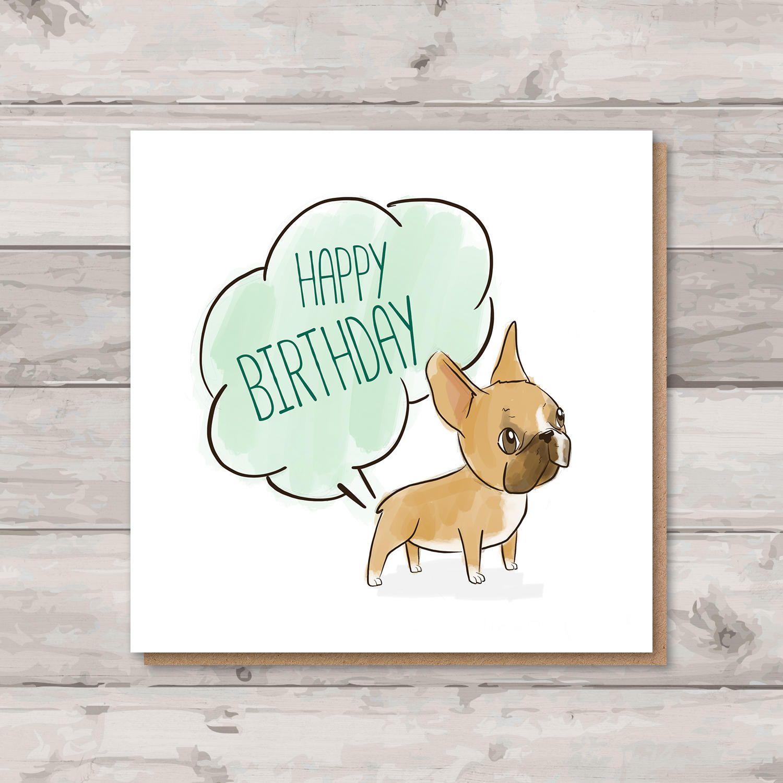 French Bulldog Birthday Card Rude Birthday Card Frenchie Card