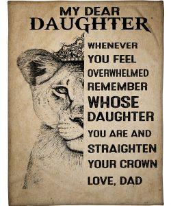 To My Daughter Sherpa Fleece Blanket
