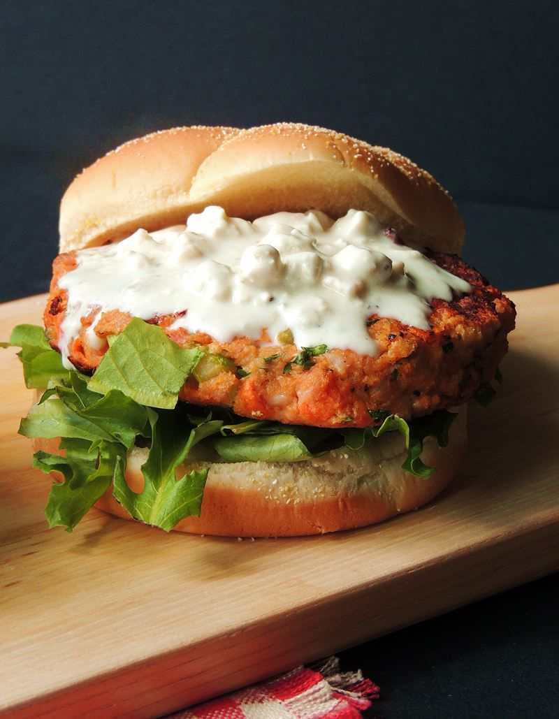 buffalo chicken wings and burgers collide in this mouth watering