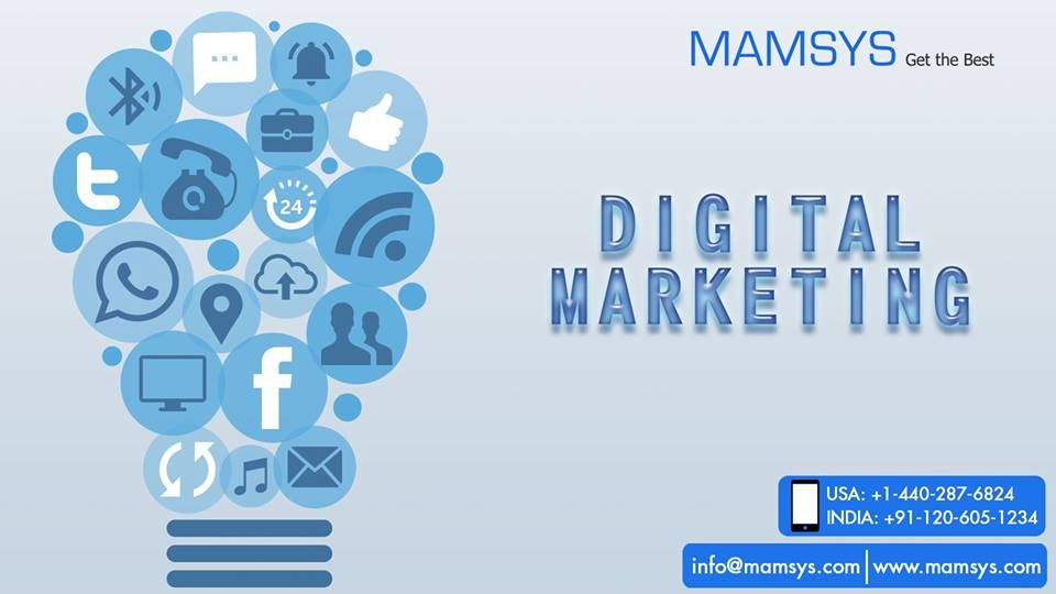 Are you reaping the benefits of Digital Marketing? Are you aware how companies growing their businesses are using Social Media? Are you leveraging online space for your marketing campaigns?  If not, build your digital marketing strategy now and redefine your brand with Mamsys. Contact us now to know more about our services.   #digitalmarketing #seo #smo #mamsysworld