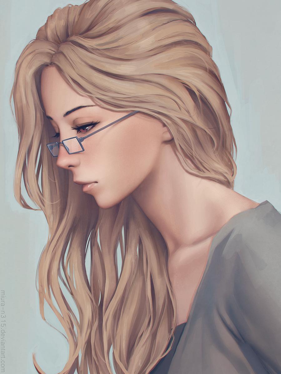 Рисованные девушки на аву русыми