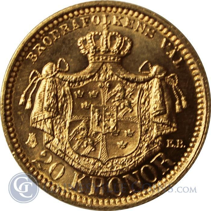 1877 1899 Sweden 20 Kronor Thumbnail Gold Coins Gold And Silver Coins Coins