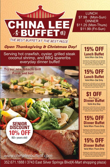 China Lee Buffet Steak Lunch Lunch Buffet Food