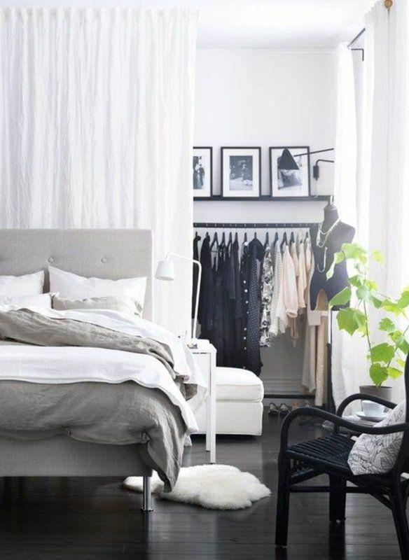 raumteiler ideen weiter beispiel vorhang trennwand Schlafzimmer - kleines schlafzimmer einrichten tipps