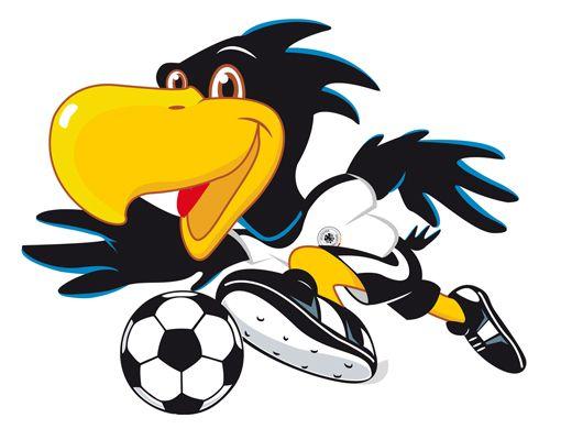 Trend German Fussball Logo frauen WandTattoo DFB Paule am Ball Fussball Maskottchen Kinderzimmer