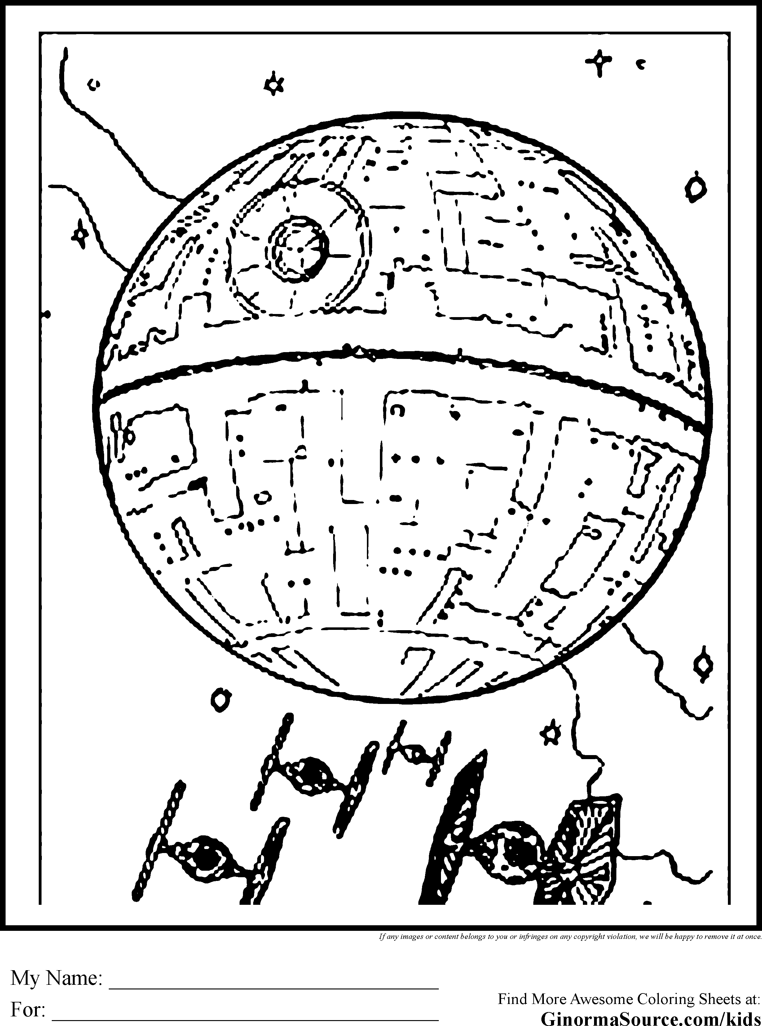 Death star coloring pages