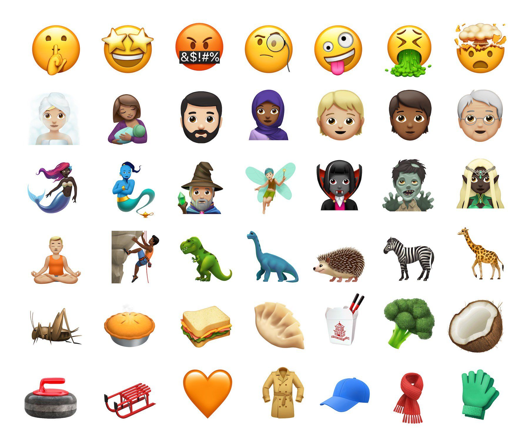 Ios 11 1 Adds New Emojis From Apple Including Giraffe Face Vomiting Genie Sauropod Dinosaur And More No Web Agency