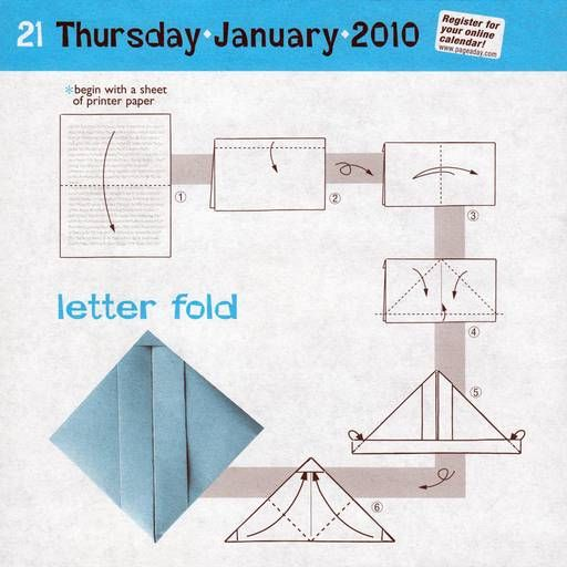 instructions for letter fold works with us letter paper