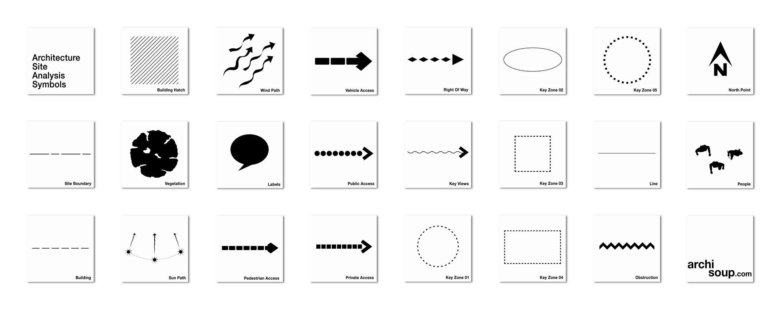 Archisoup Architecture Siteysis Diagrams Symbols