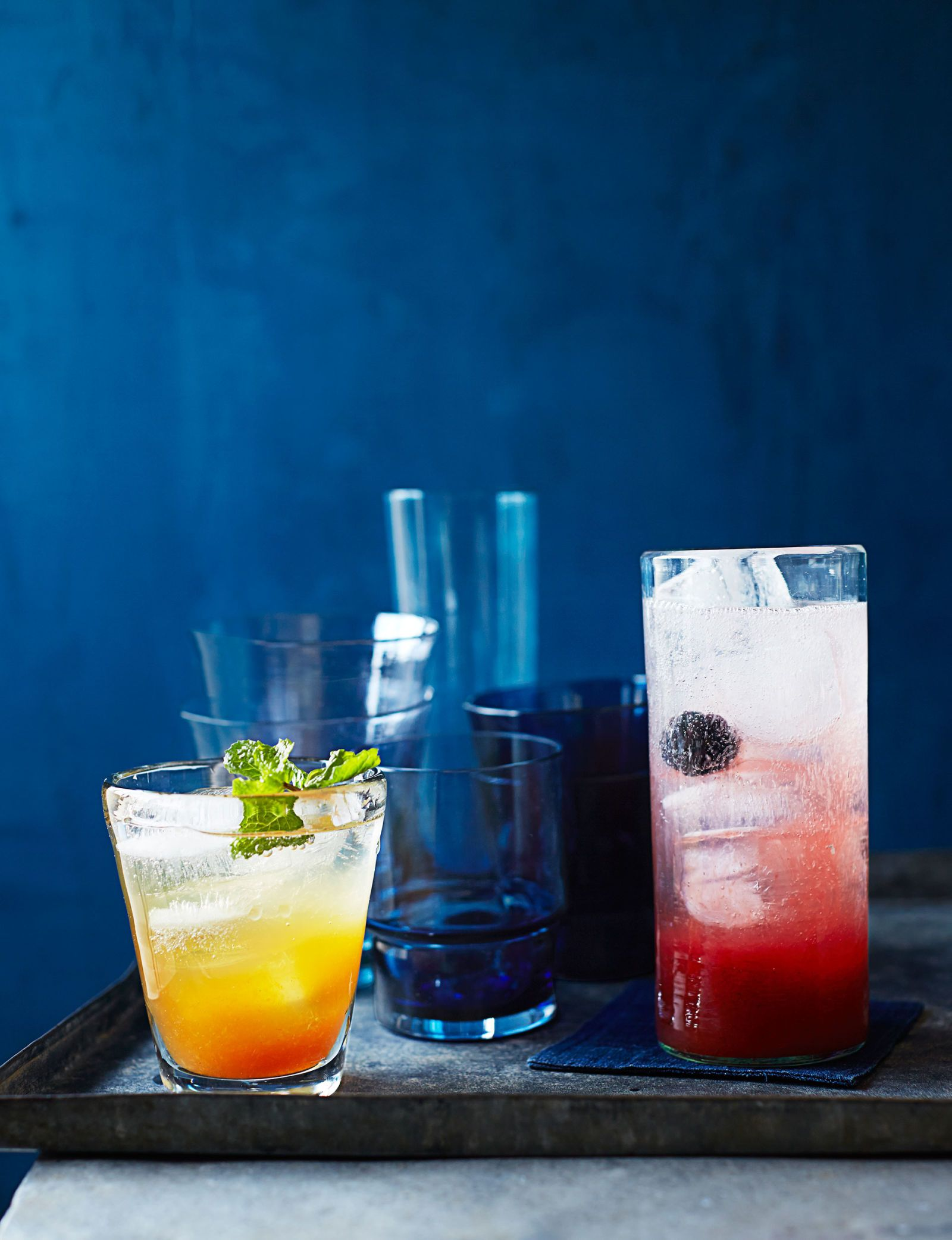 Mocktail Blackberry Spritzer Recipe Drinks Drankjes