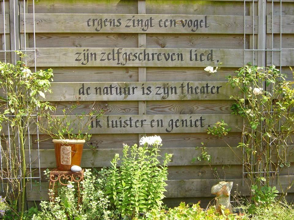 Citaten Over Hout : Mooie spreuk voor in de tuin gardening pinterest