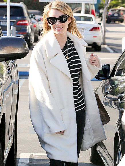 Star Tracks: Wednesday, December 31, 2014 | WINTER WHITE | Emma Roberts looks chic as she makes the rounds in Los Angeles on Monday.