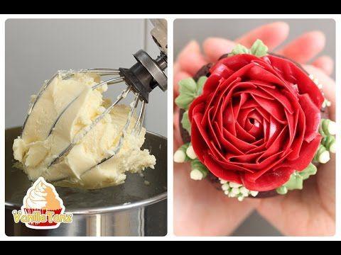 In diesem Video zeige ich euch wie ihr eine einfache, aber eine sehr schöne und stabile Milch-Buttercreme für eure Blumen und Tortendekoration herstellen kön... #buttercream