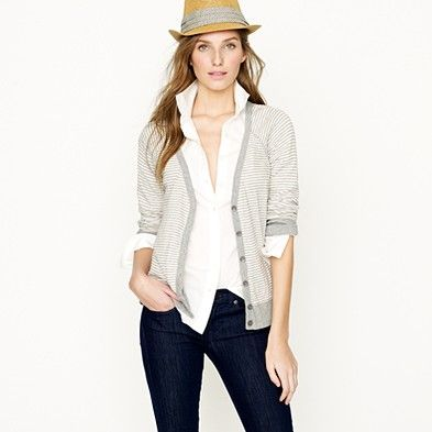 Love cardigans and layers.  Not sure I can pull off the hat, but it's cool nonetheless.
