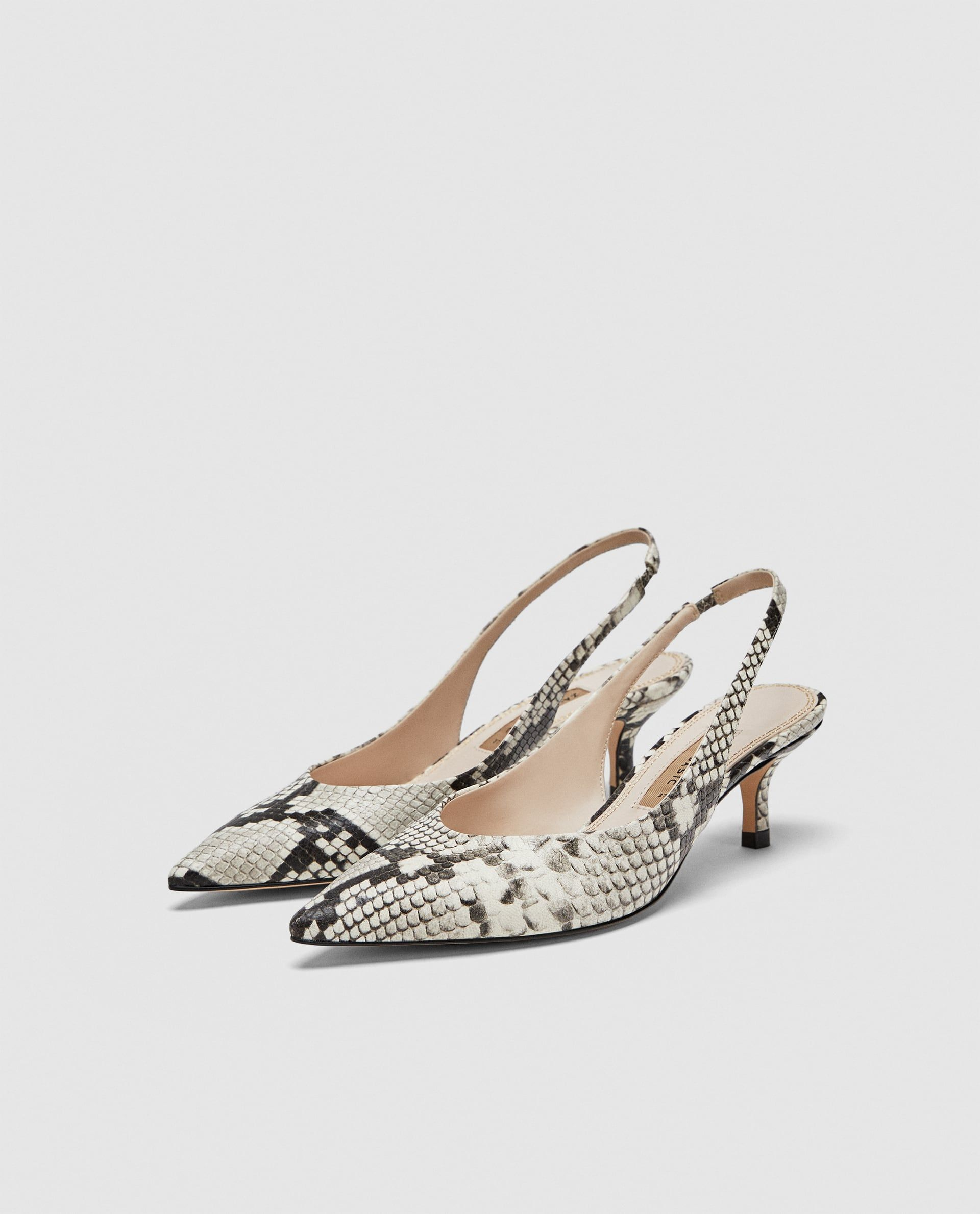 Leather Slingback Shoes Slingback Shoes Kitten Heel Shoes Work Shoes Women
