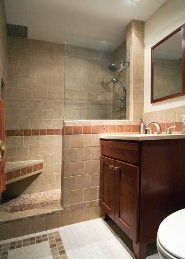 Half Wall Glass Shower Bench Hideous Tile But Like