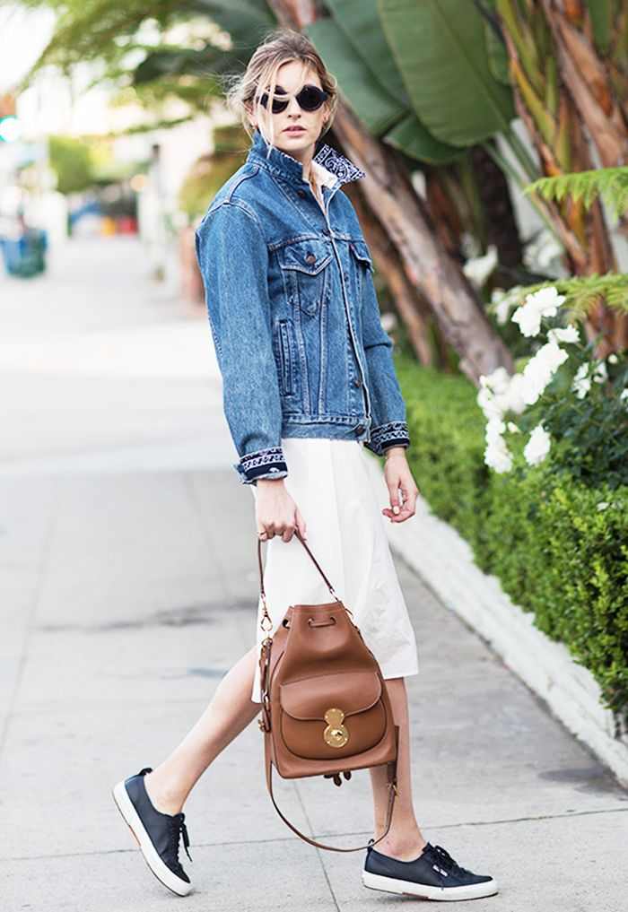 c3bc05fa 9+Outfit+Formulas+Every+Woman+Should+Have+on+Hand+via+@WhoWhatWear Jean  jacket. Little white dress