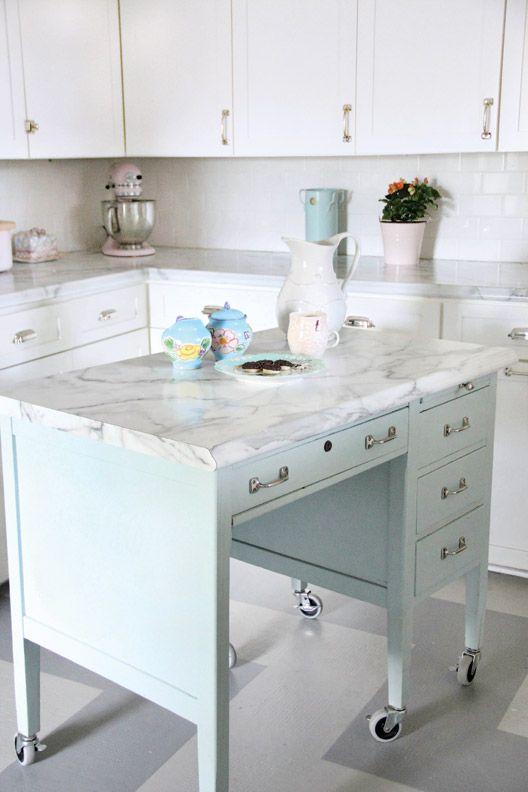 Creative Kitchen Island Ideas My Style Pinterest School desks