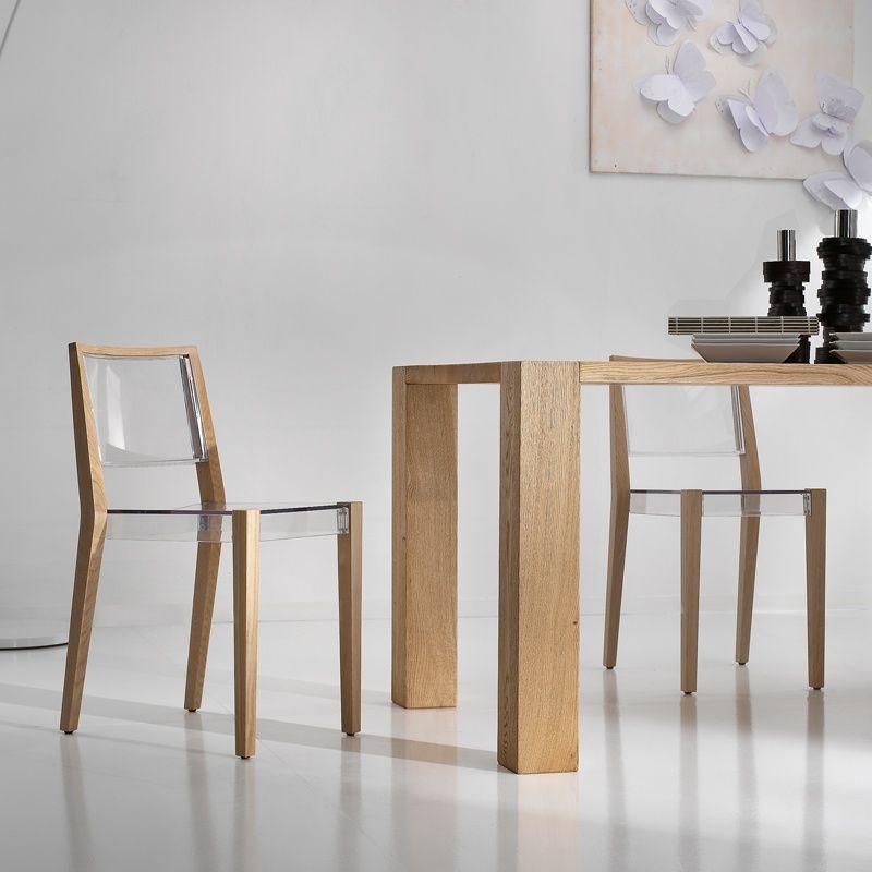 Chaise Design En Plexi Et Bois