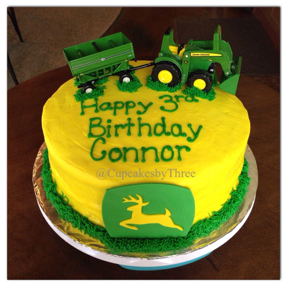 John Deere birthday cake My work Cupcakes by Three Pinterest