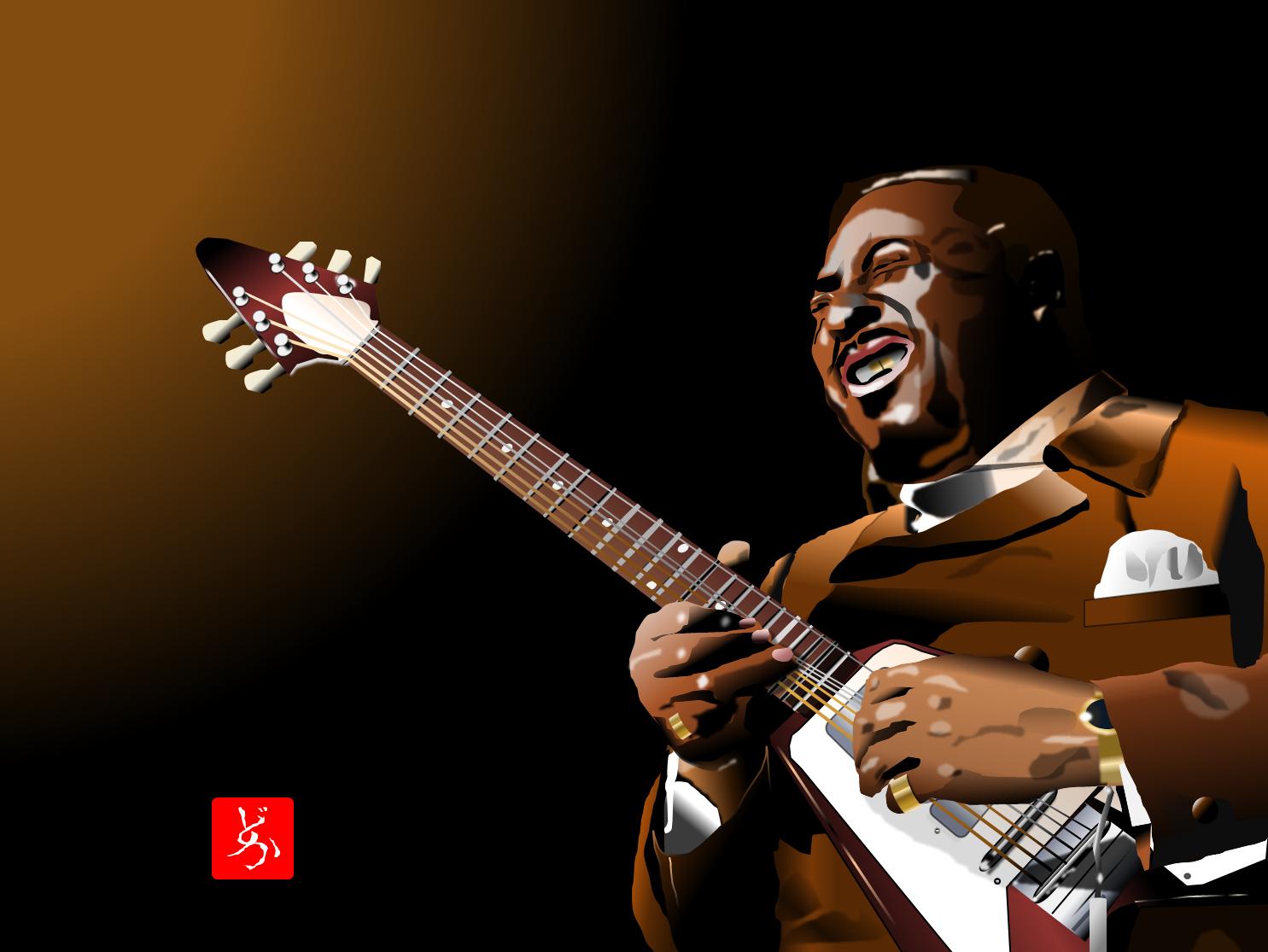 エクセル画でalbert King 2020 ブルース 音楽 イラスト ジミヘン