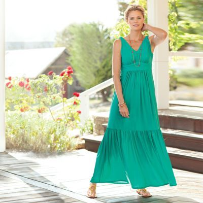 f8ccd7ad46c Women s Voyager Knit V-Neck Maxi Dress