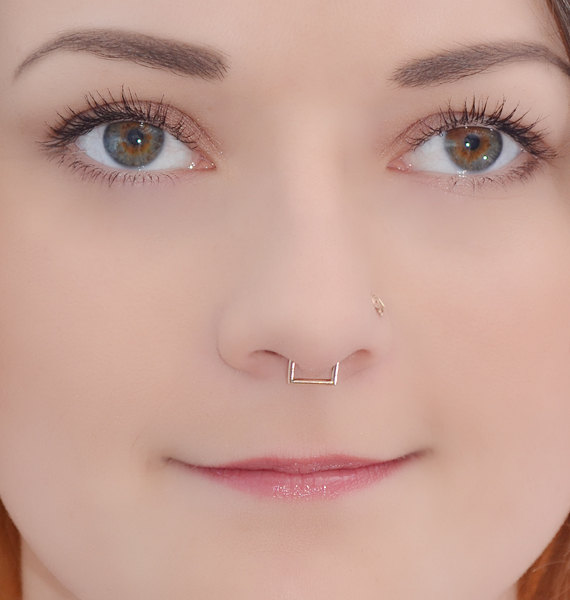 This Is A Listing For One Single Septum Ring Made Of Gold Filled