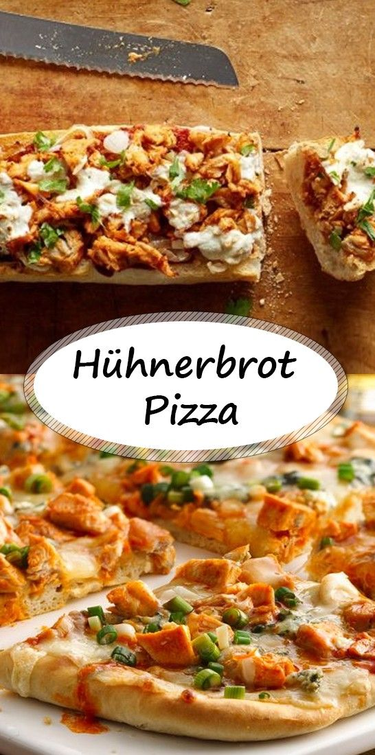 Hühnerbrot Pizza- einfaches Rezept  #hawaiianfoodrecipes