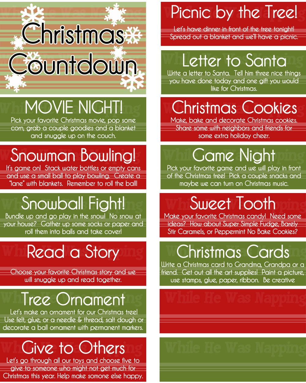 Advent Calendar Ideas Wife : Christmas countdown activity jar advent calendar boredom