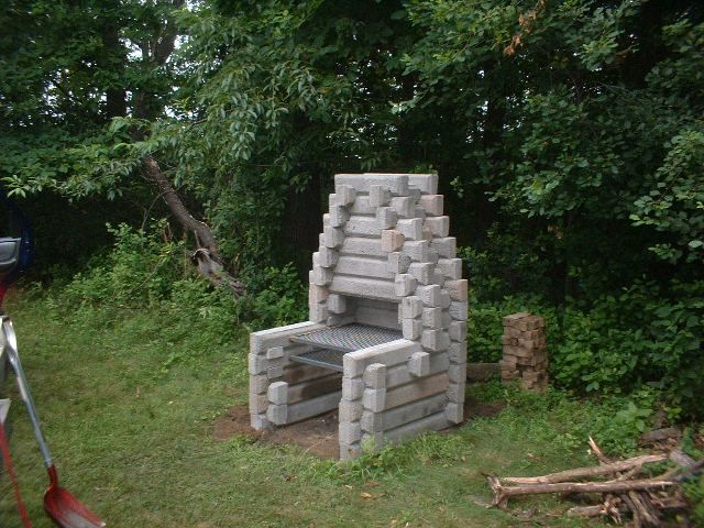 Cinder Block Fireplace | Build outdoor fireplace, Cinder ... on Building Outdoor Fireplace With Cinder Block id=49797