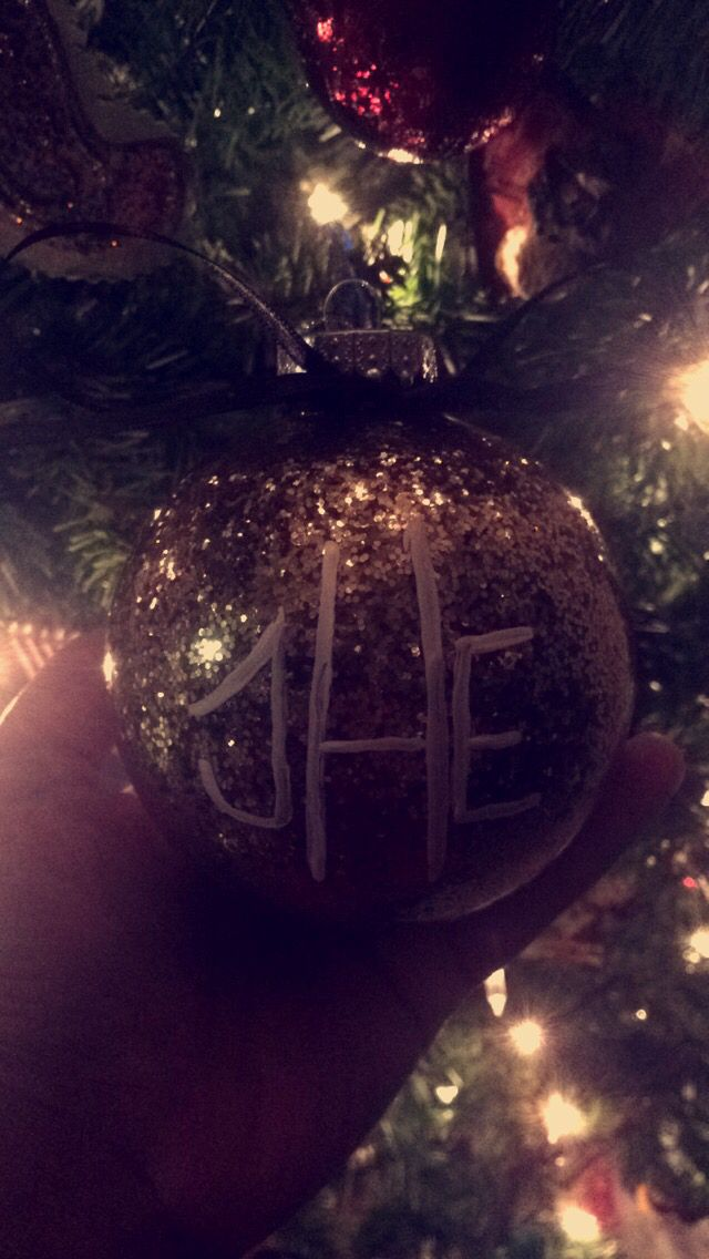 Monogrammed Ornament #monogram