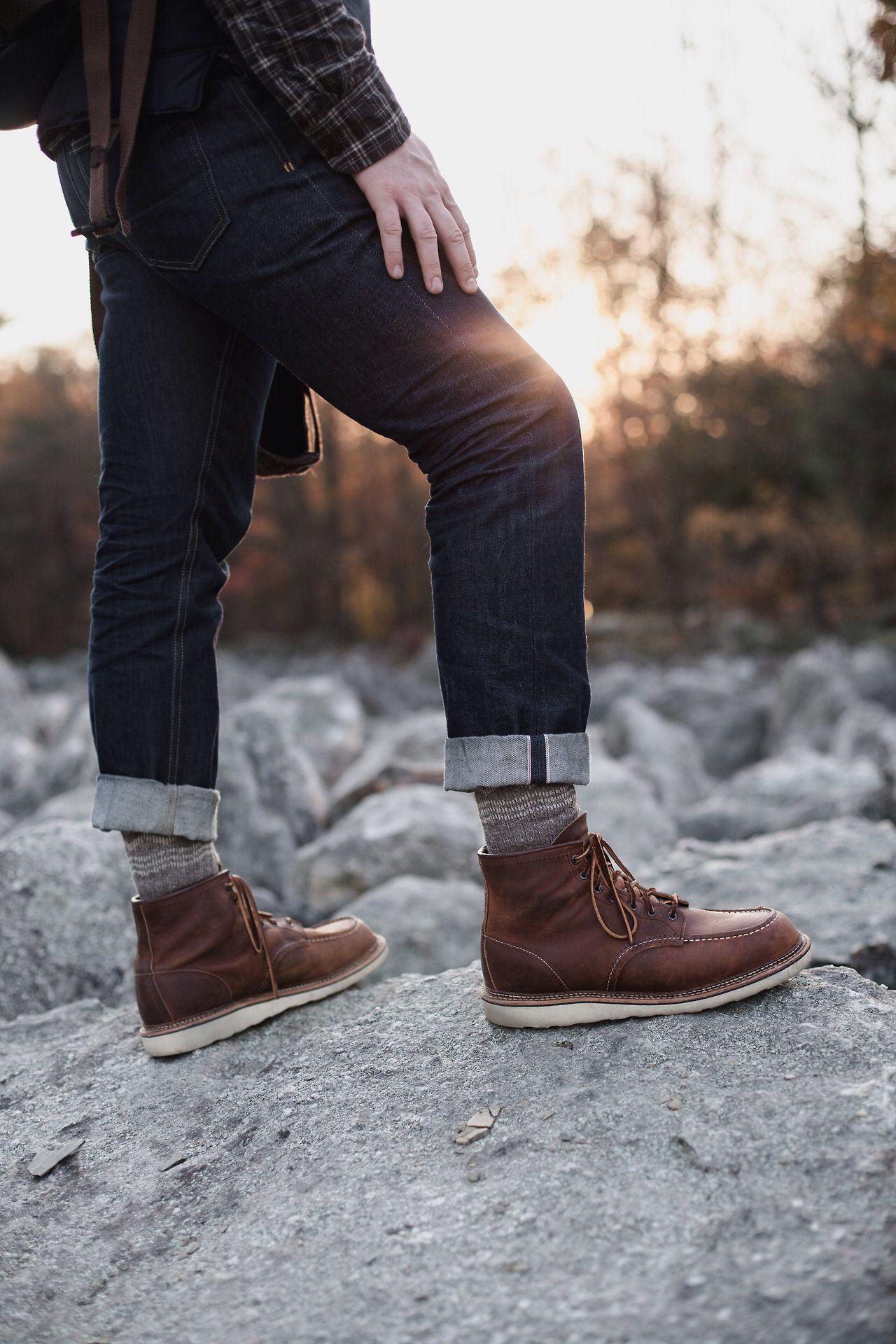 red wing boots | Moc toe boots men, Moc