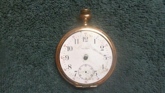 Gold Antique Working Waltham 15 Jewels Pocket Watch Pocket Watches
