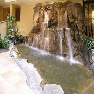 inspiration for the indoor waterfall:Home Decoration | Waterfalls .