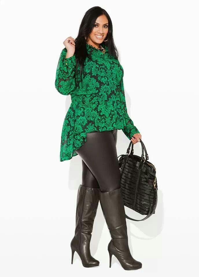 e3a98b0150bb3 Plus fashion leather pants look- too cute