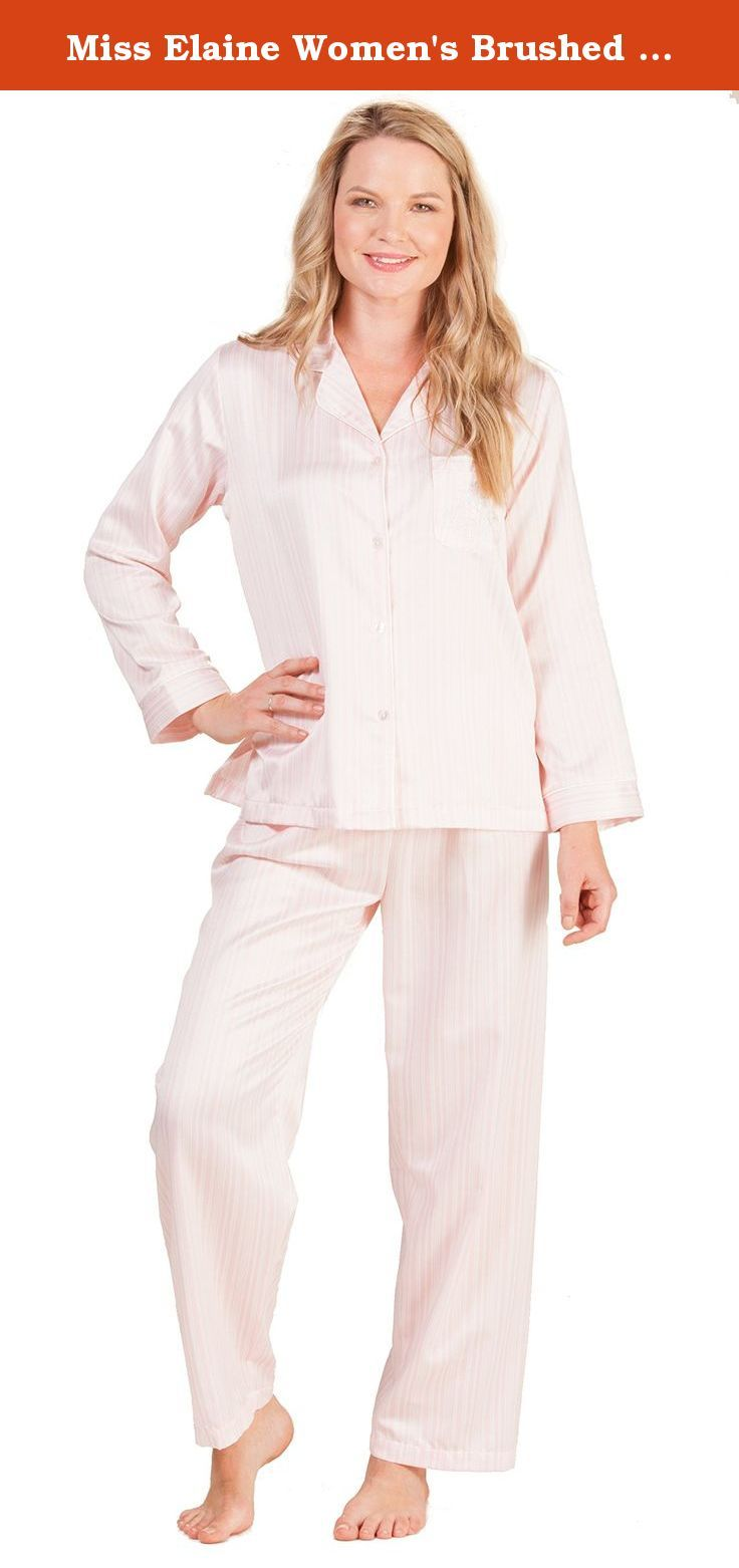 Miss Elaine Women s Brushed Back Satin Pajama Set 178b16b17